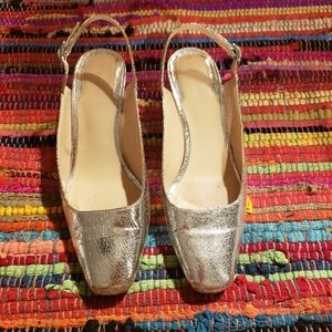 Zara Woman Silver slingbacks
